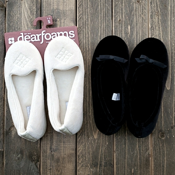 Isotoner & Dearfoam slippers NWT